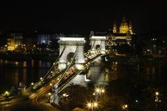 Ponte Chain em Budapest Foto de Stock Royalty Free