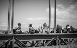 Ponte Chain em Budapest Fotos de Stock