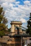Ponte Chain em Danube River em Budapest fotografia de stock