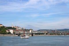 Ponte Chain em Danube River Budapest Fotografia de Stock