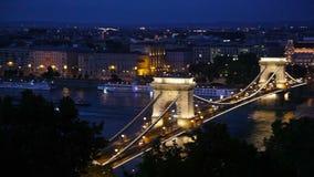 Ponte chain famosa em Budapest filme