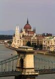 Ponte Chain - o parlamento húngaro Foto de Stock Royalty Free