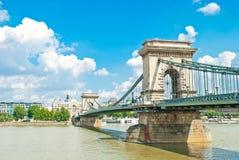 Ponte Chain velha em Budapest Fotografia de Stock Royalty Free