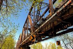 Ponte che attraversa il fiume WA di Washougal fotografie stock libere da diritti