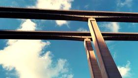 Ponte in cielo Immagine Stock