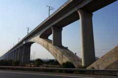 Ponte Cina del treno ad alta velocità Fotografia Stock