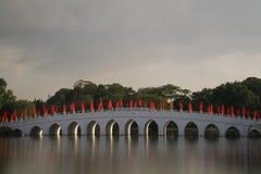 Ponte cinese 2 del giardino Fotografie Stock
