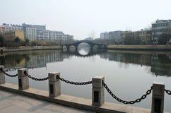 Ponte cinese Fotografie Stock Libere da Diritti