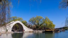 Ponte classico della cinghia della giada del giardino fotografia stock libera da diritti