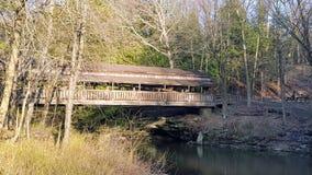 Ponte coberta fotografia de stock