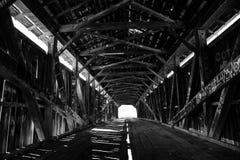 Ponte coberta da era da guerra civil imagem de stock