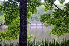 Ponte coberta de Alabama imagens de stock