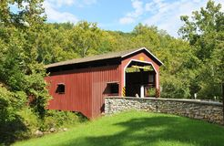 Ponte coberta de Colmanville Fotografia de Stock Royalty Free