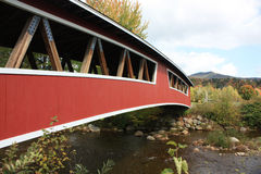 Ponte coberta de New-Hampshire fotografia de stock royalty free