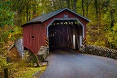Ponte coberta do moinho de Kurtz Imagem de Stock Royalty Free