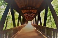 Ponte coberta do moinho de Roswell Fotografia de Stock Royalty Free