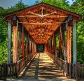 Ponte coberta do moinho de Roswell Foto de Stock