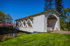 Ponte coberta do parque de Stayton imagens de stock royalty free