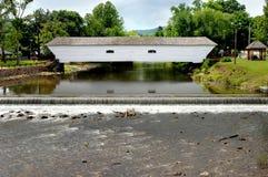 Ponte coberta e quedas Imagem de Stock Royalty Free