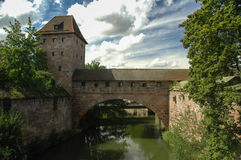 Ponte coberta em Nurmberg Imagens de Stock