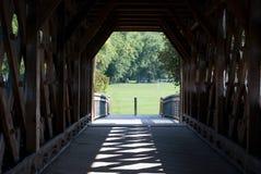 Ponte coberta, Guelph, Ontário, Canadá Imagens de Stock
