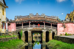 Ponte coberta japonesa em Hoi Foto de Stock Royalty Free