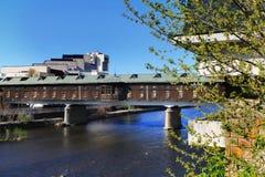 Ponte coberta, Lovech, Bulgária Fotografia de Stock Royalty Free