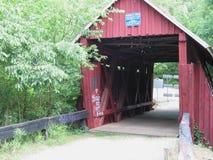 Ponte coberta velha Fotos de Stock
