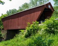 Ponte coberta vermelha, VT de Pittsford Foto de Stock