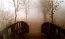 Ponte com árvores Imagens de Stock
