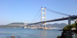 Ponte come visto dal parco Hong Kong di Noè fotografia stock