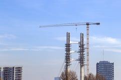 Ponte concreto in costruzione fotografia stock libera da diritti