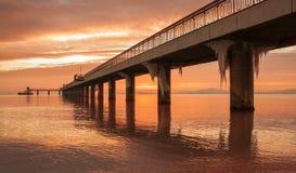 Ponte congelada Imagens de Stock