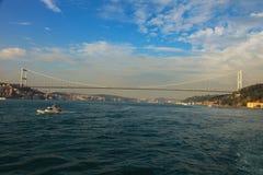 Ponte continental de Europa-Ásia Fotos de Stock Royalty Free
