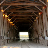 Ponte coperto al tramonto Immagine Stock