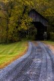 Ponte coperto dei pesci castagna del sud - Vermont immagini stock
