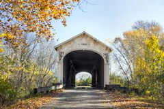 Ponte coperto del mulino di Forsythe immagine stock libera da diritti