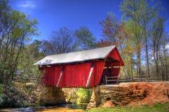 Ponte coperto del ` s di Campbell, Greenville, Carolina del Sud fotografie stock