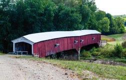 Ponte coperto del sindacato ad ovest in Indiana fotografia stock