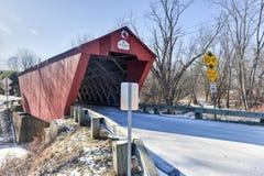 Ponte coperto del Vermont Fotografie Stock Libere da Diritti