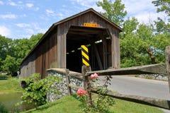 Ponte coperto della Pensilvania di estate Fotografia Stock Libera da Diritti