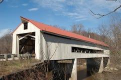 Ponte coperto della strada di Mechanicsville immagini stock libere da diritti