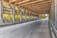 Ponte coperto della strada interna di Giddings fotografia stock