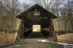 Ponte coperto di Ashokan a New York fotografia stock