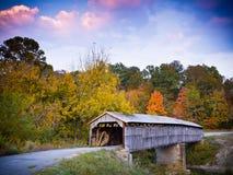 Ponte coperto di era della guerra civile fotografia stock