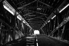 Ponte coperto di era della guerra civile immagine stock