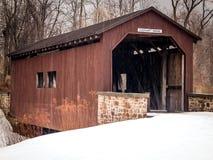 Ponte coperto di Everhart a Harrisburg Pensilvania Immagine Stock