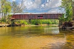 ponte coperto di guado di Cox Immagine Stock