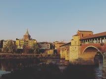 Ponte Coperto di Pavia, Italia Fotografia Stock
