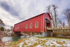 Ponte coperto di Shimanek in Scio, Oregon immagine stock